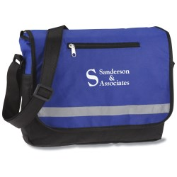 View a larger, more detailed picture of the Reflective Polypropylene Messenger Bag