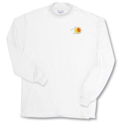 View a larger, more detailed picture of the Anvil Deluxe Mock Turtleneck - White