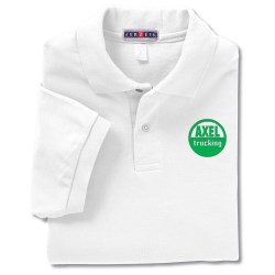 View a larger, more detailed picture of the Jerzees Spotshield Pique Sport Shirt - White