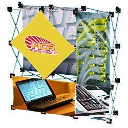 View a larger, more detailed picture of the Geometric Junior Pop-Up Tabletop Display - 5 Panel