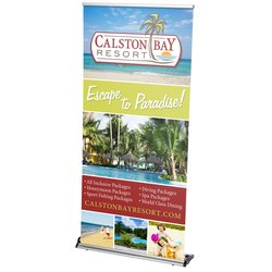 View a larger, more detailed picture of the Rapid Change Retractable Banner Display