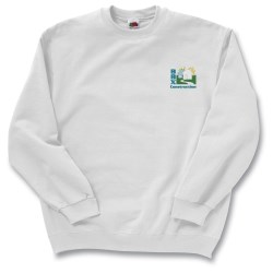 View a larger, more detailed picture of the FOL Best 50 50 Sweatshirt - Embroidered - White