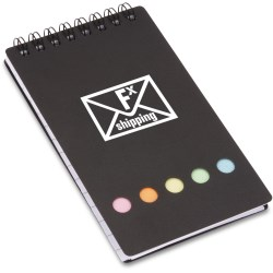 View a larger, more detailed picture of the Spiral Pocket Flag Buddy Jotter - Opaque