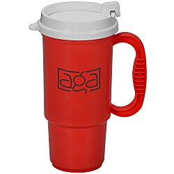 View a larger, more detailed picture of the Insulated Auto Mug - 16 oz - Opaque - White Lid