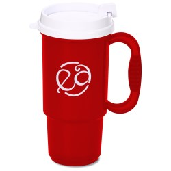 View a larger, more detailed picture of the Insulated Auto Mug - 16 oz - Translucent - White Lid