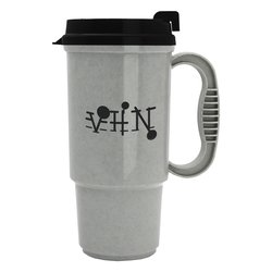 View a larger, more detailed picture of the Insulated Auto Mug - 16 oz - Opaque - Black Lid