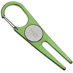 View a larger, more detailed picture of the Aluminum Divot Tool w Ball Marker