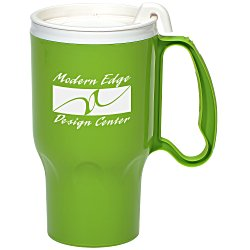 View a larger, more detailed picture of the Roadster Mug - 16 oz - White Lid