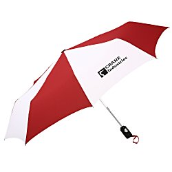 View a larger, more detailed picture of the totes Auto Open Close Umbrella - Two-Tone