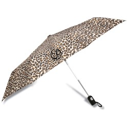 View a larger, more detailed picture of the totes Auto Open Close Umbrella - Leopard