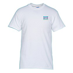 View a larger, more detailed picture of the Gildan 5 3 oz Cotton T-Shirt Men s - Emb - White