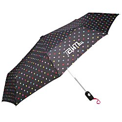View a larger, more detailed picture of the totes Auto Open Close Umbrella - Polka Dot