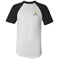 View a larger, more detailed picture of the Augusta Sportswear Baseball Jersey - Emb - White