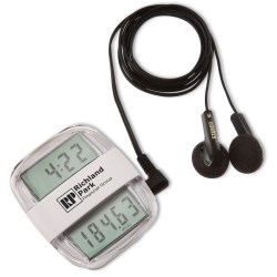 View a larger, more detailed picture of the Clock Rocker Radio Pedometer