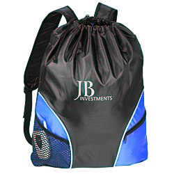 View a larger, more detailed picture of the Traveler Drawstring Backpack