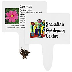 View a larger, more detailed picture of the Compostable Seed Stakes - Cosmos