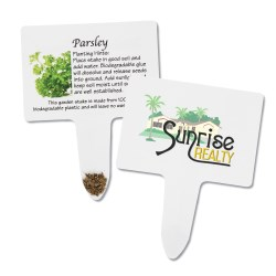 View a larger, more detailed picture of the Compostable Seed Stakes - Parsley