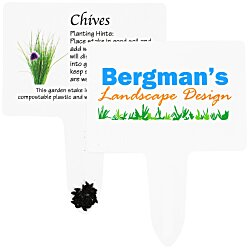 View a larger, more detailed picture of the Compostable Seed Stakes - Chives