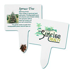 View a larger, more detailed picture of the Compostable Seed Stakes - Spruce Tree
