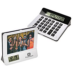 View a larger, more detailed picture of the 3 in 1 Calculator Picture Frame Digital Clock