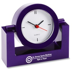 View a larger, more detailed picture of the Round Analog Clock - Closeout Colors