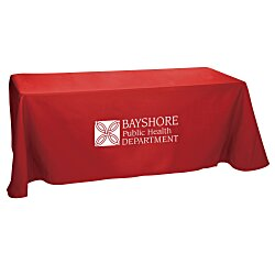 View a larger, more detailed picture of the Open-Back Poly Cotton Table Throw - 6 - 24 hr