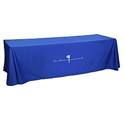 View a larger, more detailed picture of the Open-Back Poly Cotton Table Throw - 8 - 24 hr