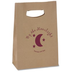 View a larger, more detailed picture of the Die Cut Handle Kraft Paper Bag - 13-1 2 x 8