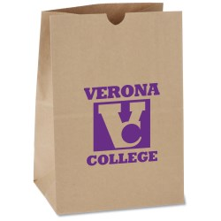 View a larger, more detailed picture of the Kraft Paper Grocery Bag - 13 x 9