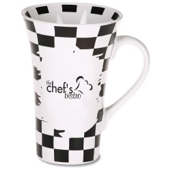 View a larger, more detailed picture of the Manhattan Design Mug - 12 oz - Checker