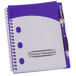 View a larger, more detailed picture of the File-A-Way Notebook w Pen - Brights - 24 hr