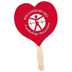 View a larger, more detailed picture of the Hand Fan - Heart