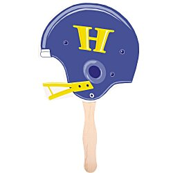 View a larger, more detailed picture of the Hand Fan - Football Helmet - Full Color