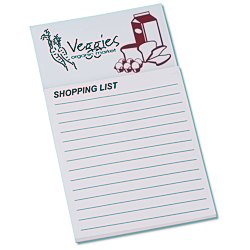 View a larger, more detailed picture of the Bic Business Card Magnet with Note Pad - Grocery List