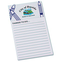 View a larger, more detailed picture of the Bic Business Card Magnet with Note Pad - Pencils
