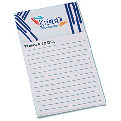 View a larger, more detailed picture of the Bic Business Card Magnet with Note Pad - Paper Clips