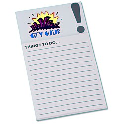 View a larger, more detailed picture of the Bic Business Card Magnet with Note Pad - Exclamation