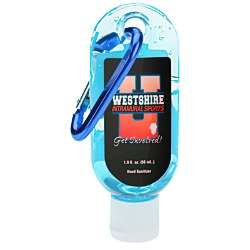 View a larger, more detailed picture of the Hand Sanitizer w Carabiner - Tinted