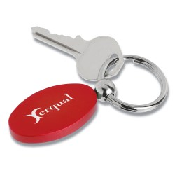 View a larger, more detailed picture of the Oval Satin Key Tag - Closeout
