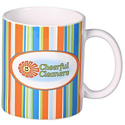 View a larger, more detailed picture of the Outer Bank Stripe Designer Mug - 11 oz