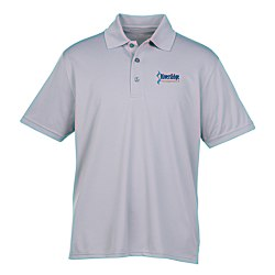 View a larger, more detailed picture of the Vansport Omega Solid Mesh Tech Polo - Men s - Embroidered