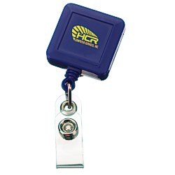 View a larger, more detailed picture of the Economy Retractable Badge Holder - SQ - Opaque