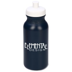 View a larger, more detailed picture of the Sport Bottle w Push Pull Cap - 20 oz - Recycled