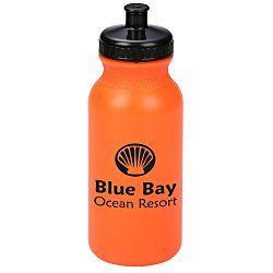 View a larger, more detailed picture of the Sport Bottle w Push Pull Cap - 20 oz - Translucent