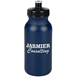 View a larger, more detailed picture of the Sport Bottle w Push Pull Cap - 20 oz - Metallic