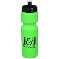View a larger, more detailed picture of the Sport Bottle w Push Pull Cap - 28 oz -Translucent