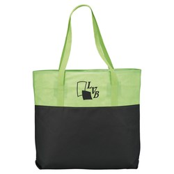 View a larger, more detailed picture of the Zippered Two-Tone Tote - Closeout