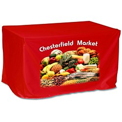 View a larger, more detailed picture of the Economy Closed-Back Fitted Table Cover - 4 - Full Color