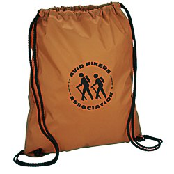 View a larger, more detailed picture of the Sport Nylon Drawstring Backpack - 24 hr