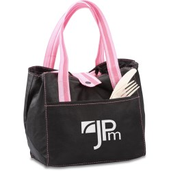 View a larger, more detailed picture of the Striped Drawstring Lunch Bag